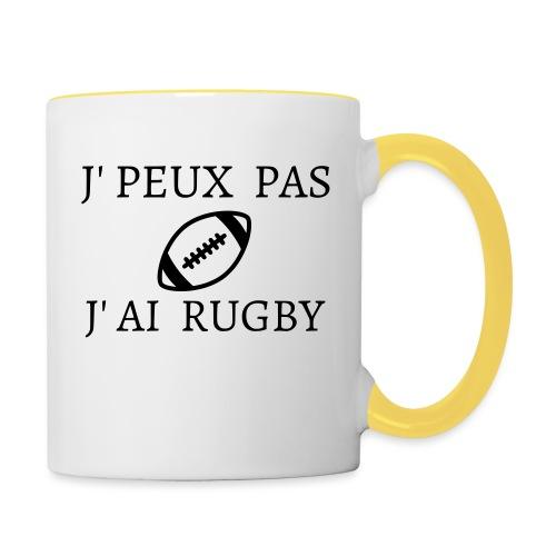 J'peux pas J'ai rugby - Mug contrasté