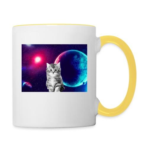 Cute cat in space - Kaksivärinen muki