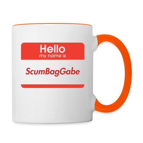 Hello My Name Is ScumBagGabe - Contrasting Mug
