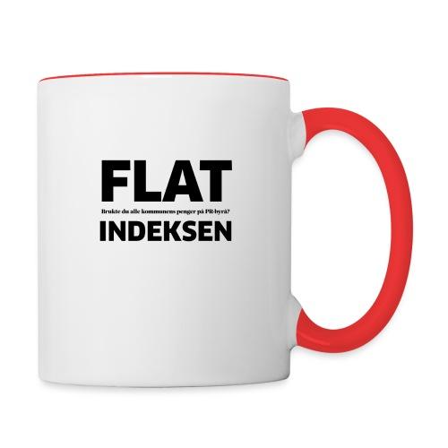 Jeg legger meg flat - Tofarget kopp