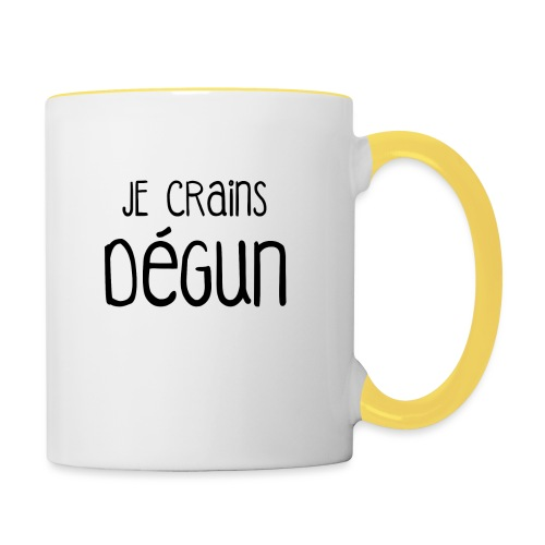 Humour Citation Marseille JE CRAINS DEGUN  - Mug contrasté