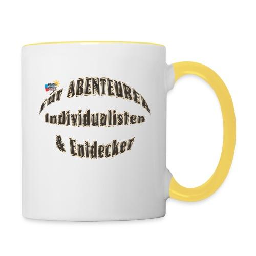 Abenteurer Individualisten & Entdecker - Tasse zweifarbig