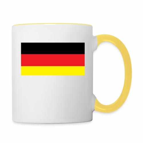 Deutschland Weltmeisterschaft Fußball - Tasse zweifarbig