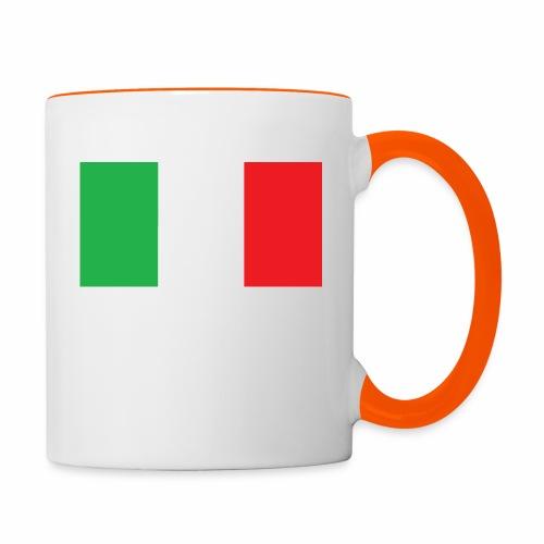 Italien Fußball - Tasse zweifarbig