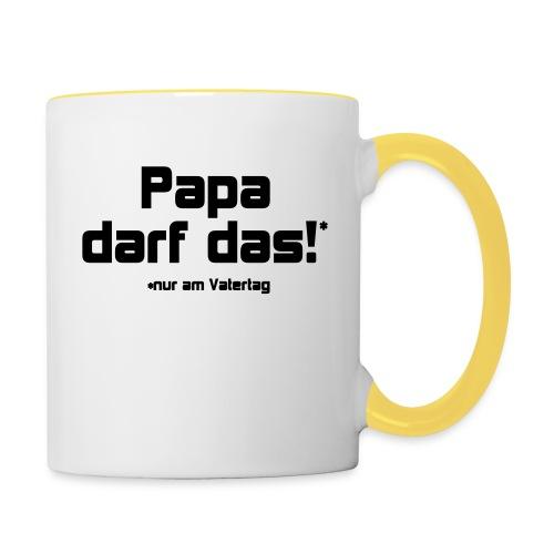 Papa darf das - Tasse zweifarbig