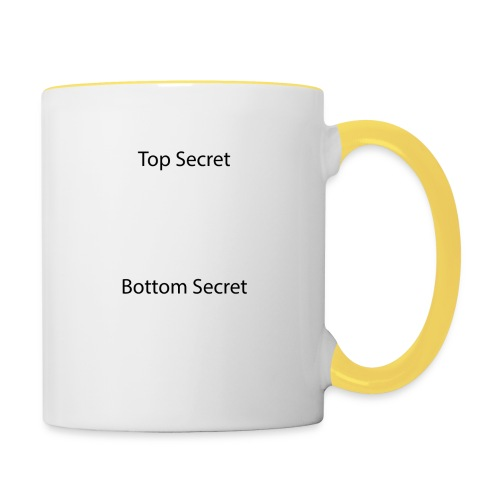 Top Secret / Bottom Secret - Contrasting Mug
