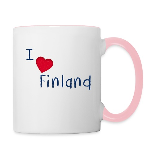 I Love Finland - Kaksivärinen muki