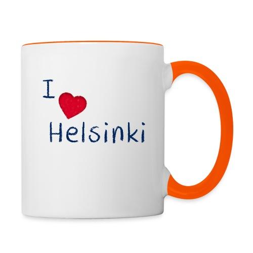 I Love Helsinki - Kaksivärinen muki