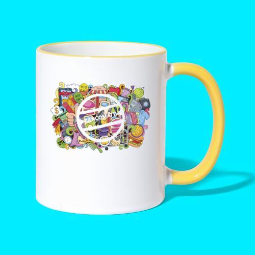 maglia logo doodle - Tazze bicolor