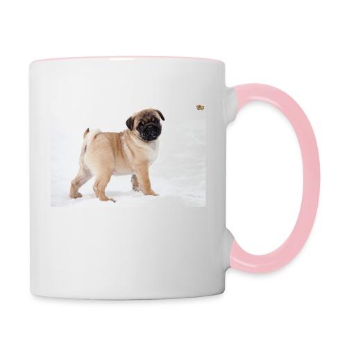 walker family pug merch - Contrasting Mug