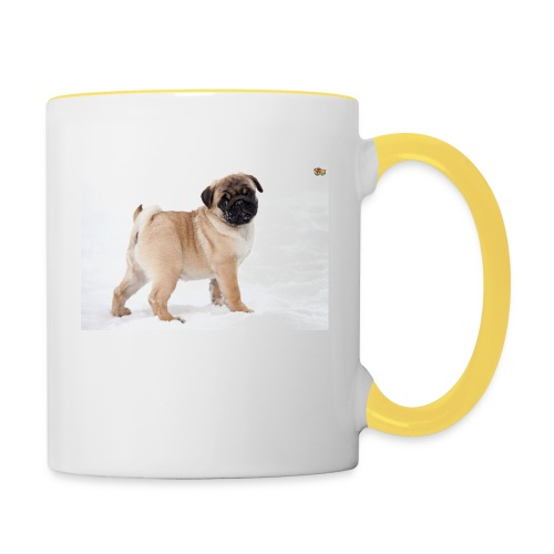 walker family pug merch - Contrasting Mug