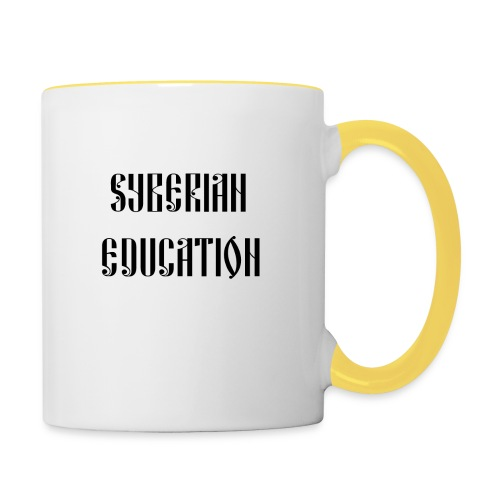 Russia Russland Syberian Education - Contrasting Mug