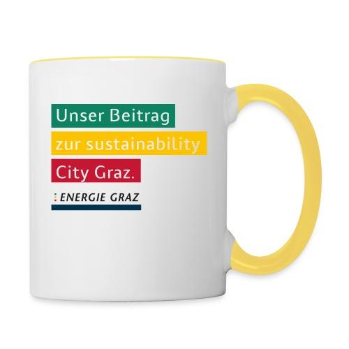 Energie Graz Vision - Tasse zweifarbig