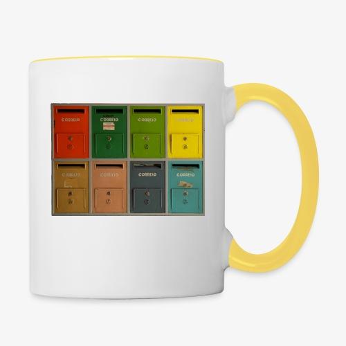 Briefkasten - Tasse zweifarbig