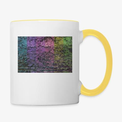 Regenbogenwand - Tasse zweifarbig