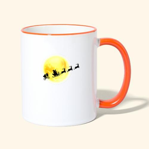 E.T. following Santa - Mug contrasté