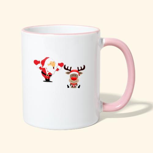 Santa and Rudolph - Mug contrasté