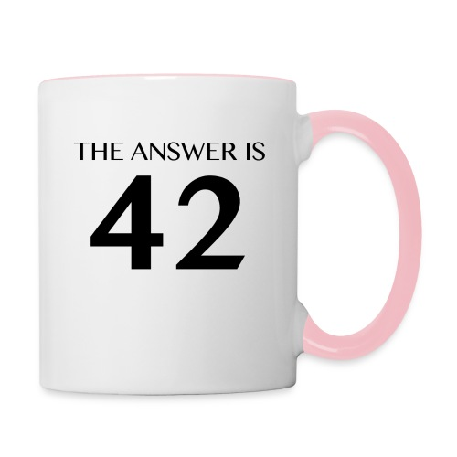 The Answer is 42 Black - Contrasting Mug