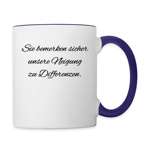Differenzen Unstimmigkeit - Seven of Nine Spruch - Tasse zweifarbig