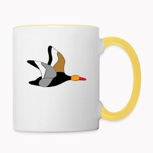 Oiseau de canard à crête rouge - Mug contrasté