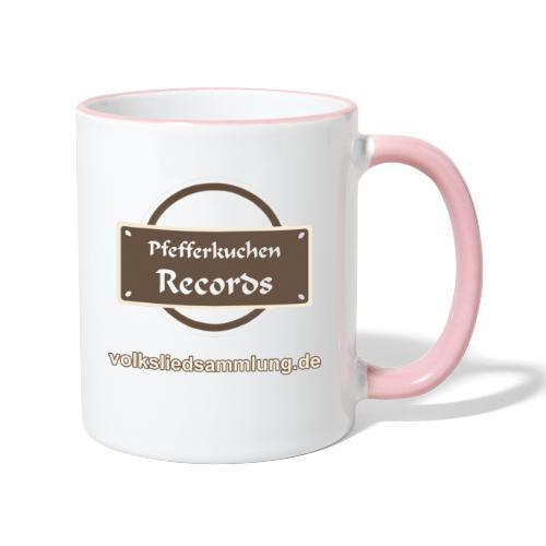 Pfefferkuchen Records Label - Volksliedsammlung - Tasse zweifarbig
