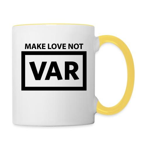 Make Love Not Var - Mok tweekleurig