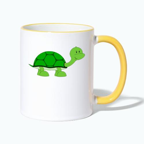 Totte Turtle - Appelsin - Tvåfärgad mugg