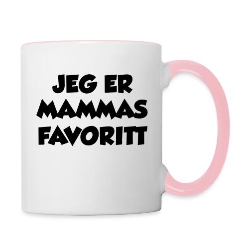 «Jeg er mammas favoritt» (fra Det norske plagg) - Tofarget kopp