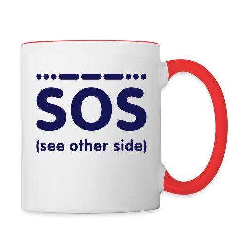 SOS - Mok tweekleurig