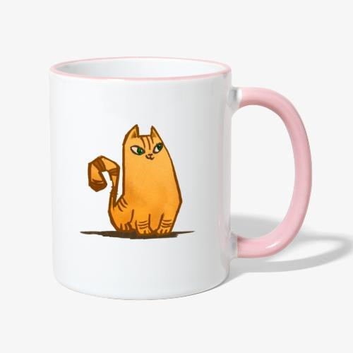 Katt - Tvåfärgad mugg