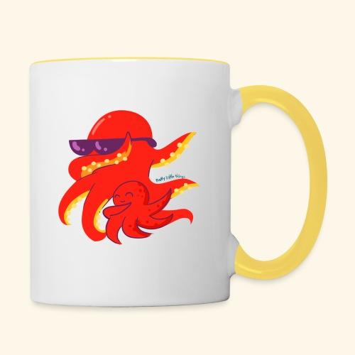 Dabbing Kraken Dab Dance and baby - Taza en dos colores