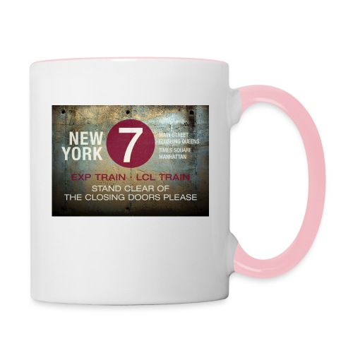 NYC subway stand clear of the closing doors please - Contrasting Mug