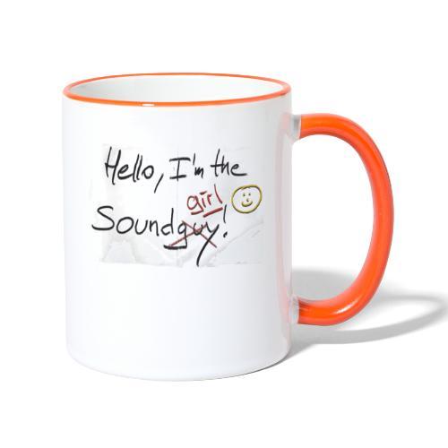 Hello I'm the sound girl - Contrasting Mug