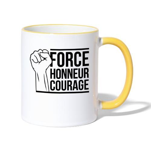 Force Honneur Courage - Mug contrasté