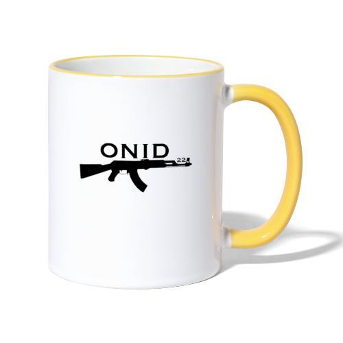logo ONID-22 nero - Tazze bicolor
