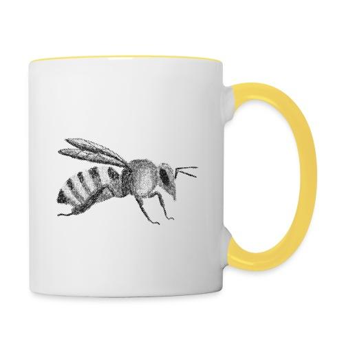 Biene - Tasse zweifarbig