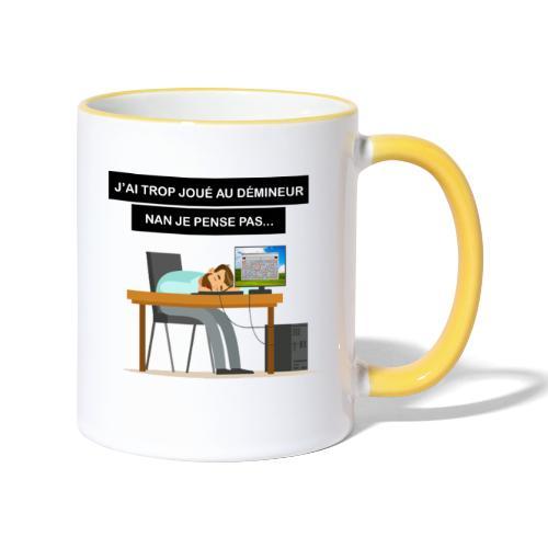 J'ai trop joué au démineur - Mug contrasté
