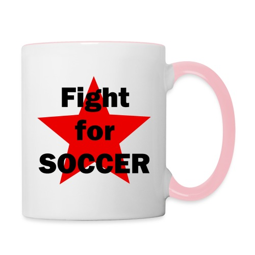 Fight for SOCCER - Tasse zweifarbig
