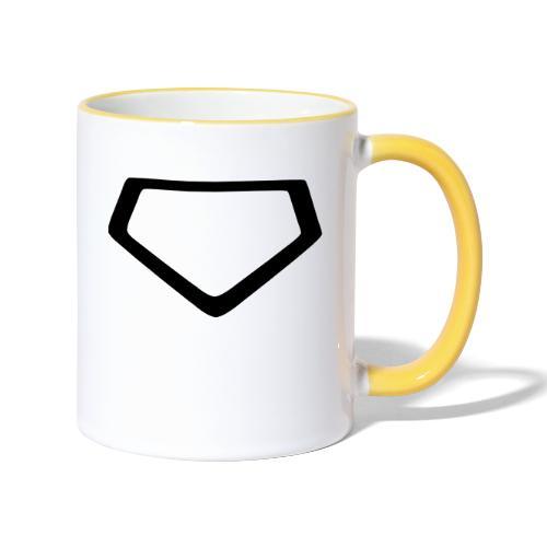 Baseball Homeplate Outline - Contrasting Mug