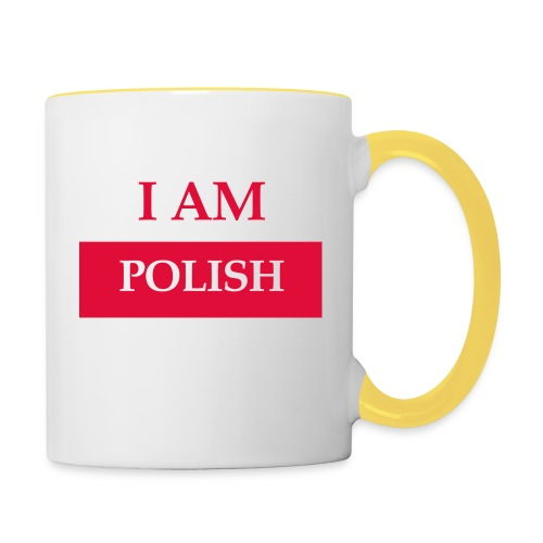 I am polish - Kubek dwukolorowy