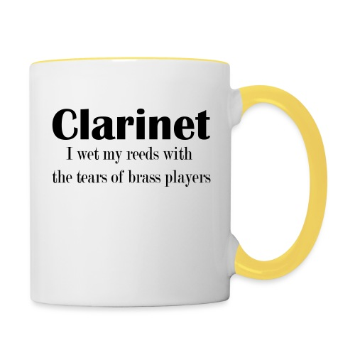 Clarinet, I wet my reeds with the tears - Contrasting Mug