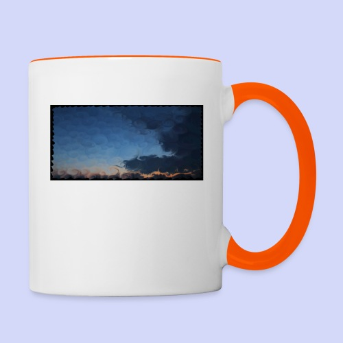 Sunset lovers - Morning tea cup - Tofarvet krus