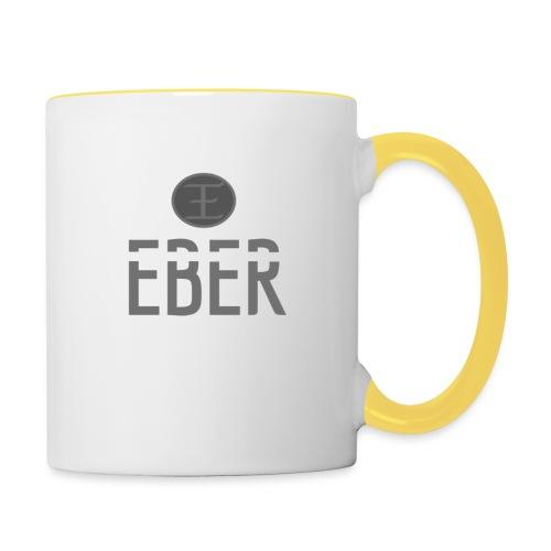 EBER: T-Shirt - Grey - Tvåfärgad mugg