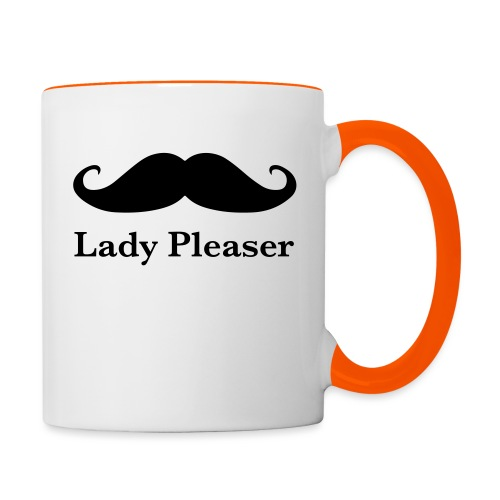 Lady Pleaser T-Shirt in Green - Contrasting Mug