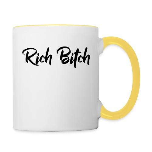 Rich Bitch - Mok tweekleurig