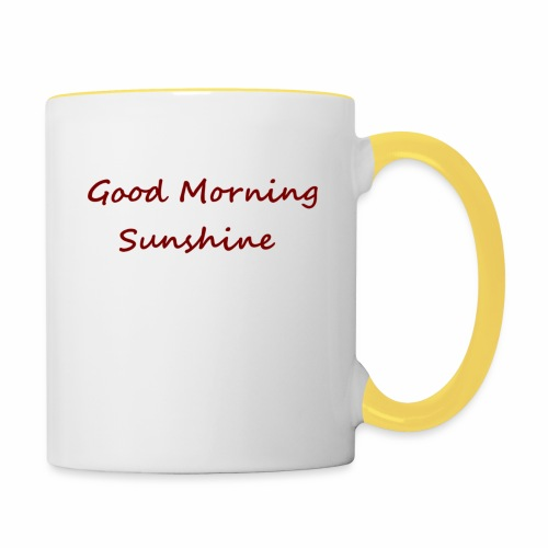 Good morning Sunshine - Mok tweekleurig