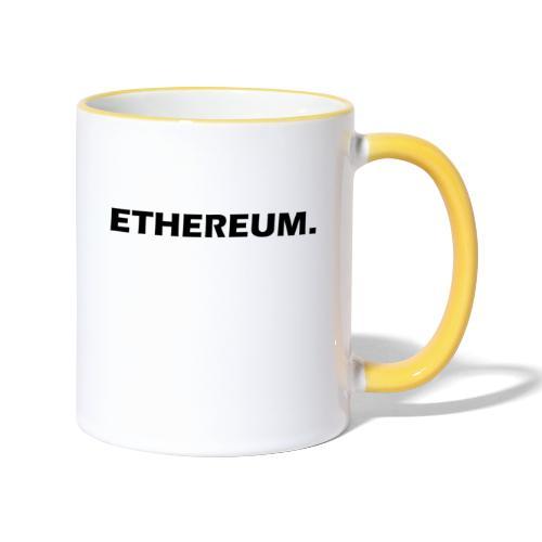 Ethereum - Tasse zweifarbig