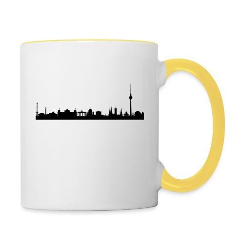 berlin skyline - Tasse zweifarbig