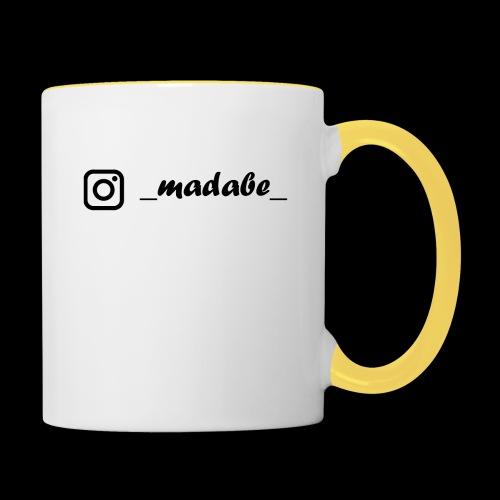 madabe instagram - Tasse zweifarbig