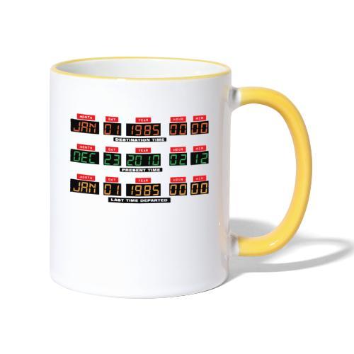 Back To The Future DeLorean Time Travel Console - Contrasting Mug